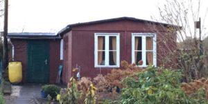Alte Gartenlaube ein einer Kieler Kleingartenanlage die seit den 30er jahren besteht
